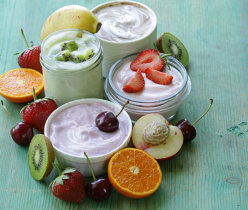 Assortment Of Different Yogurt